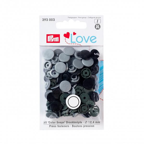 Prym love color snaps - grå