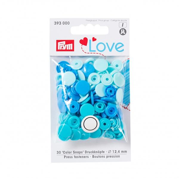 Prym love color snaps - blå
