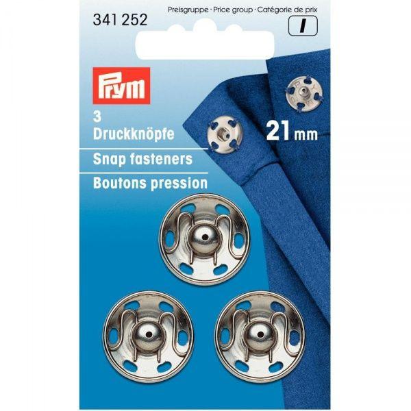 Prym Trykknapp sølv 21 mm - 3 stk