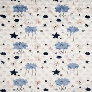 Bilde av Minky fleece Cloud dusty blue