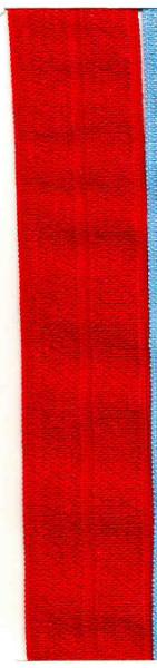 Foldeelastikk 19 mm - FOE - rød