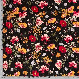 Bilde av Crepe viskose lurex blomster