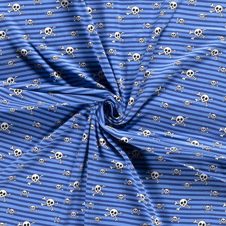 Jersey Skull striper blå
