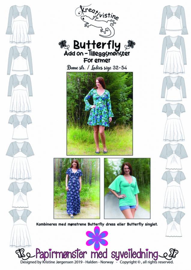 Kreativistine  - ADD ON til Butterfly dress - papirmønster
