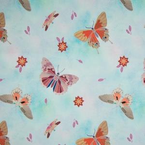 Bilde av French terry Cute butterflies