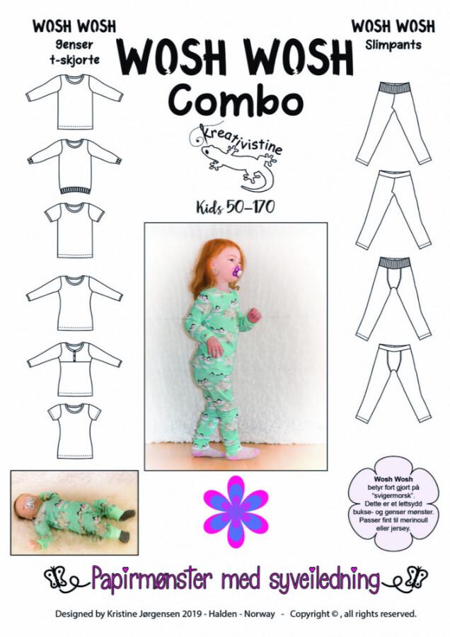 Kreativistine  - COMBO Wosh wosh KIDS - papirmønster