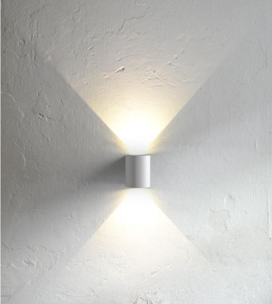 DEKOR Sq LED Vegglamp 3W Hvit