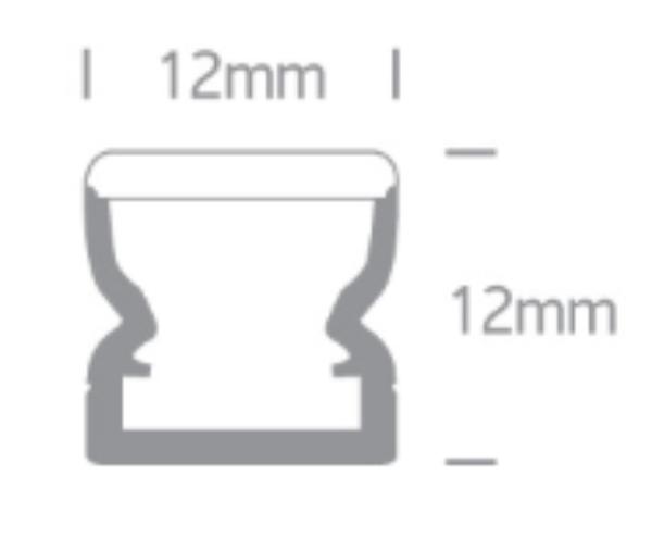 2m Plast profil 12x12mm HVIT