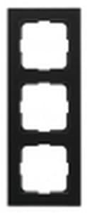 Bilde av Plus ramme 3-hull SORT