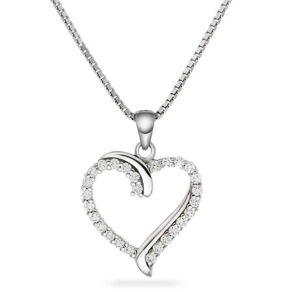 Bilde av Hjerte sølv med zirkonia