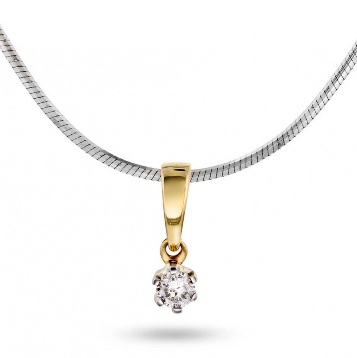 NC Anheng i gult gull med diamant 0,05 ct WSI2
