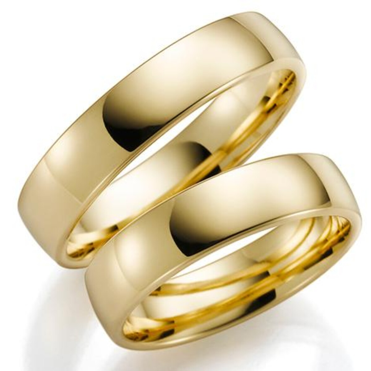 Gulldia Forever 5mm Gult gull. Glatt Ring