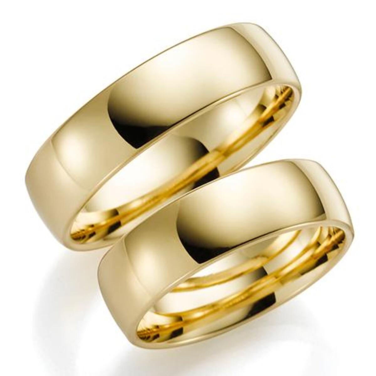 Gulldia Forever 6mm Gult gull. Glatt Ring