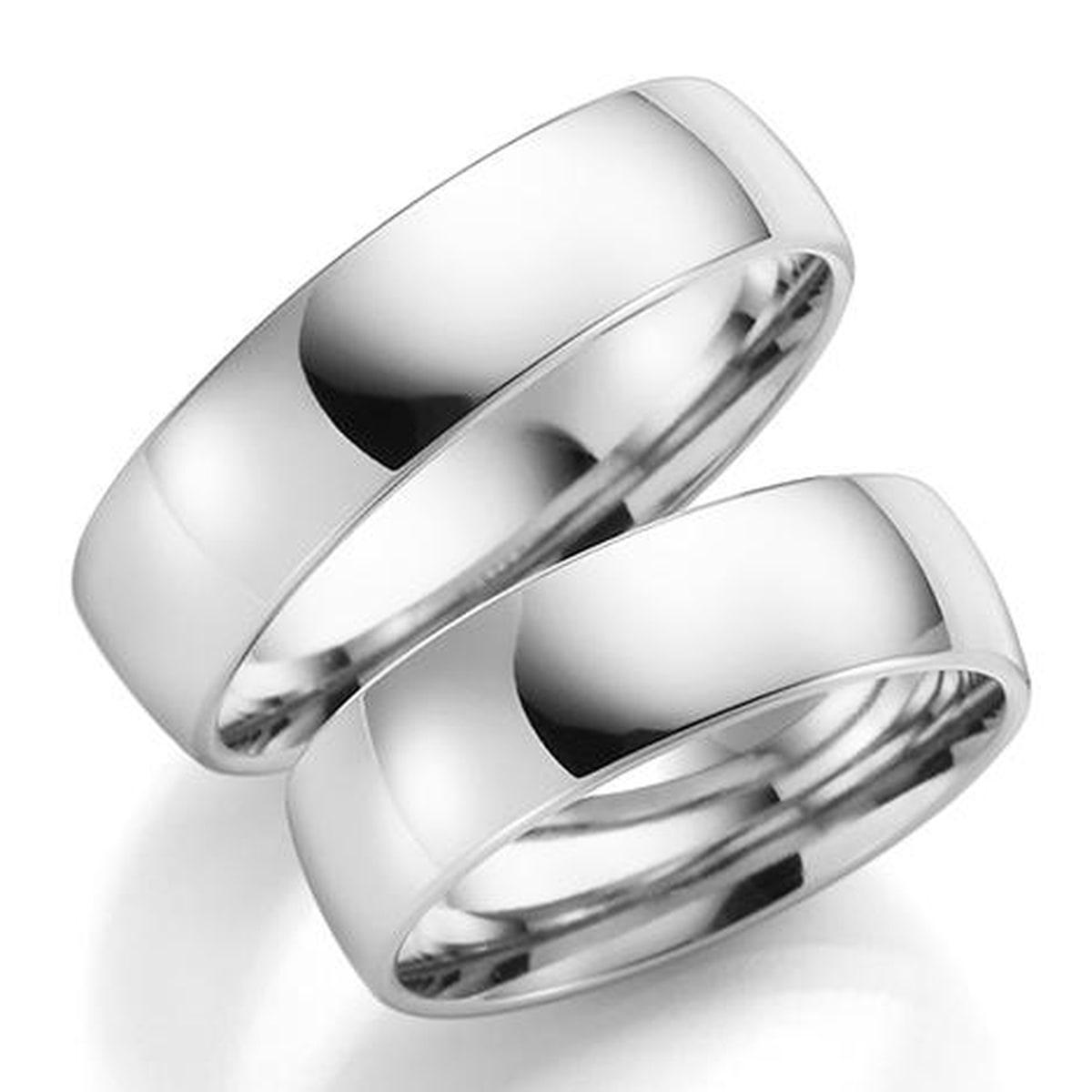 Gulldia Forever 6mm Hvitt gull. Glatt Ring