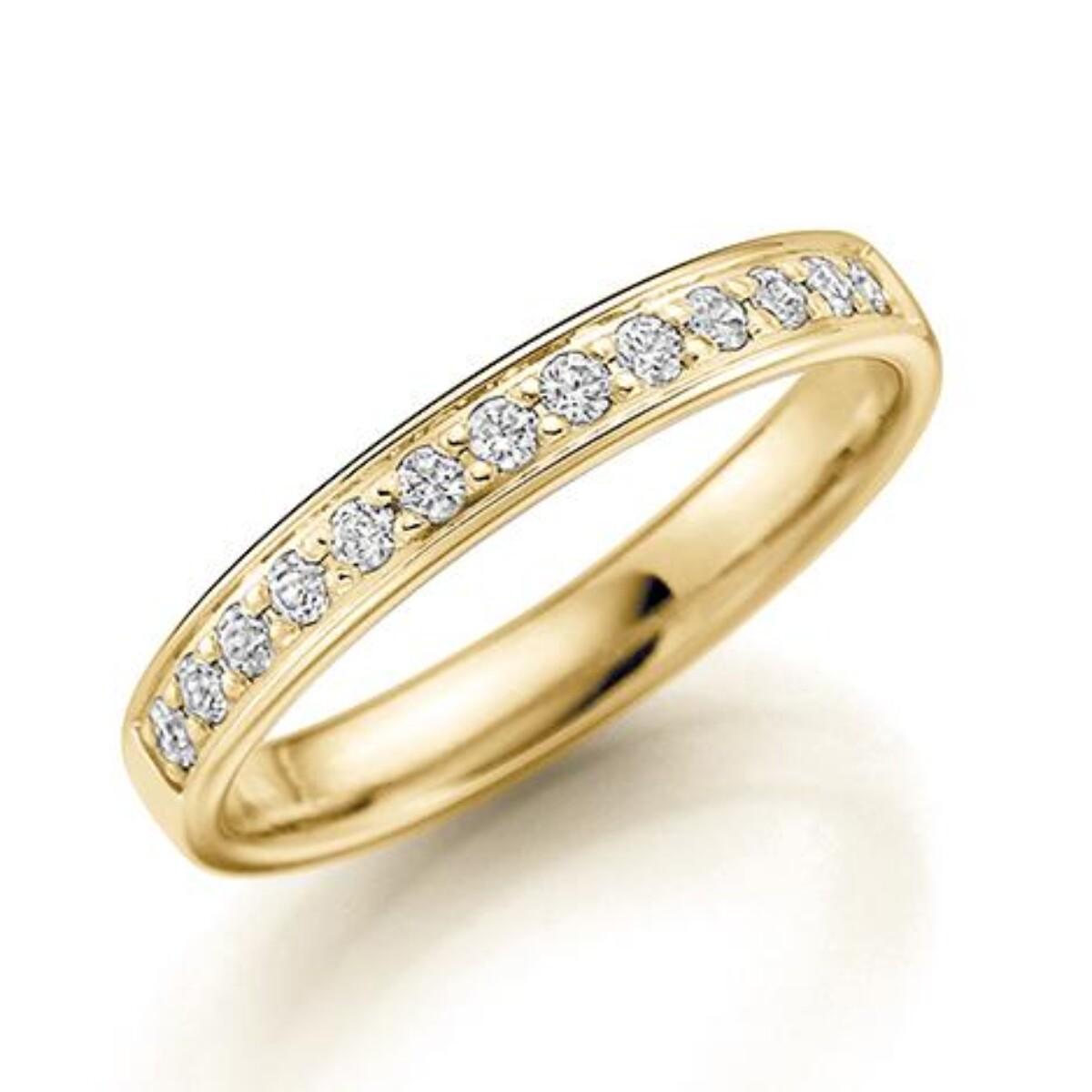 GD Forever Diamant 3mm Gult gull. Rekkering