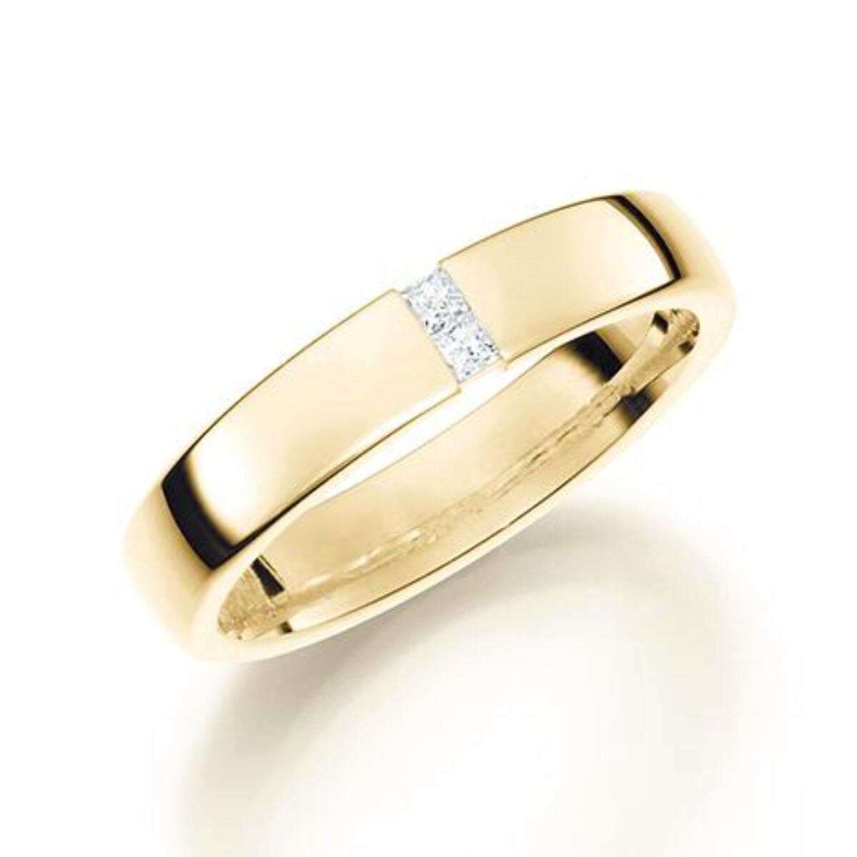 GD Forever Diamant 4mm Gult gull. Klassisk