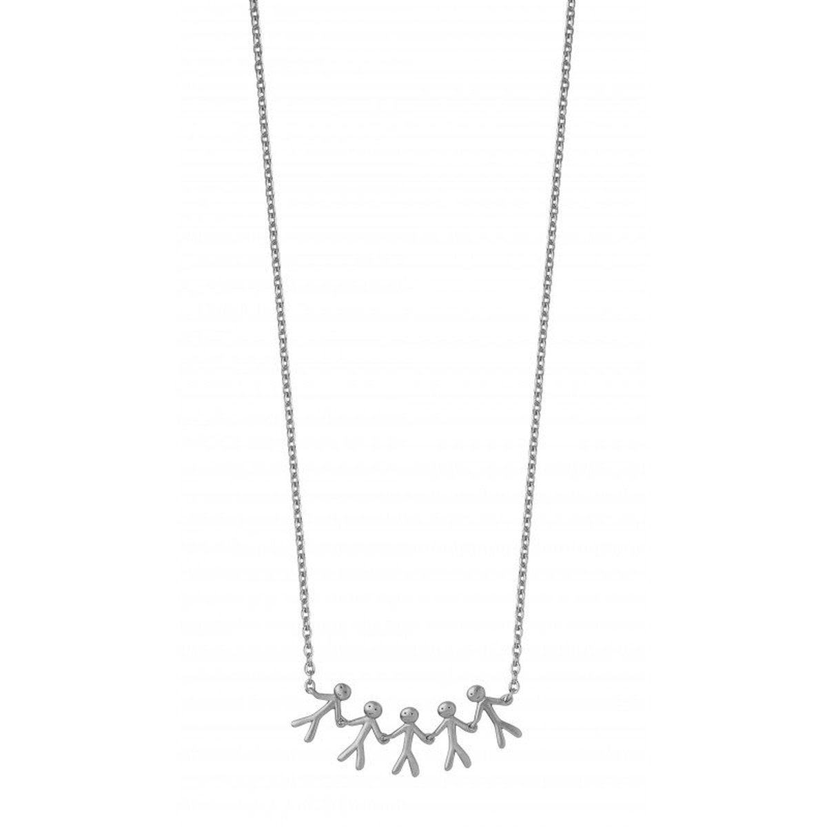 Together - Family necklace 5 - silver