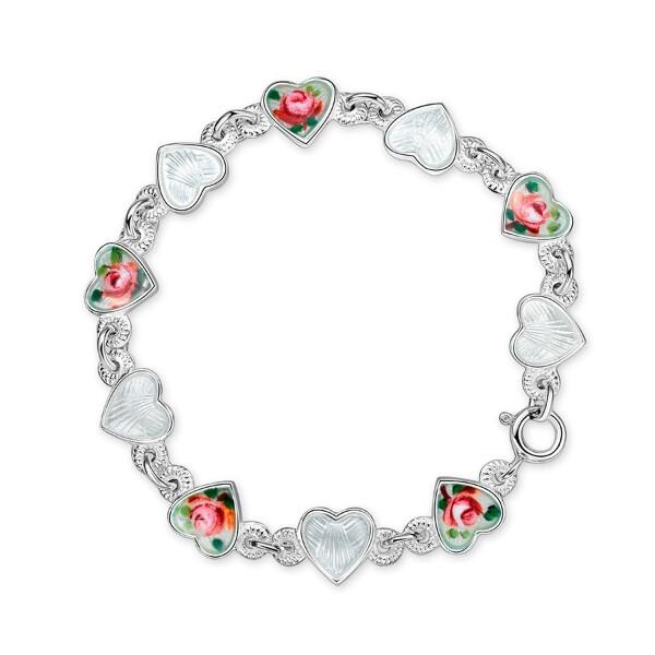 Bilde av Armbånd i sølv - Roser/ hvite