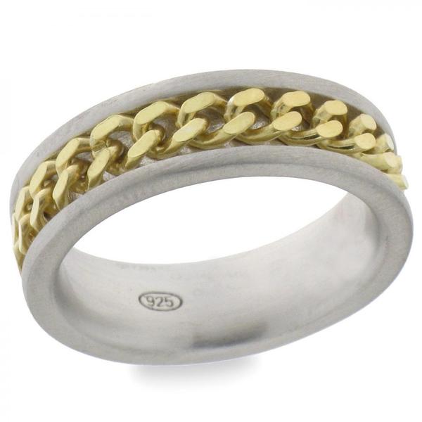 Bilde av Bond ring i sølv - Sølv/gull