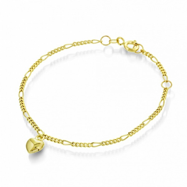 Bilde av Armbånd i gull med hjerte