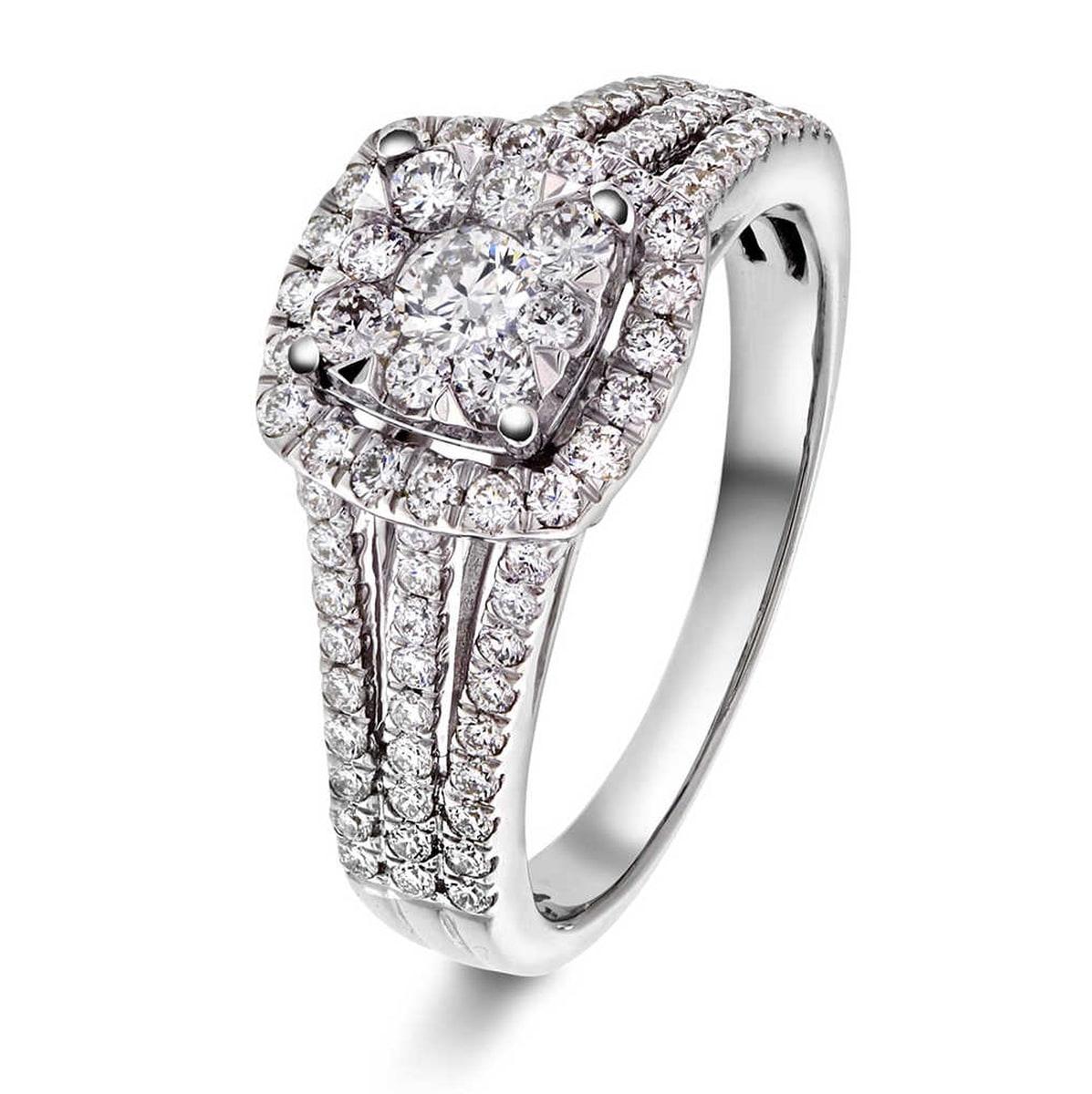 WG hvitt gull diamant ring 0,90 CT WSI