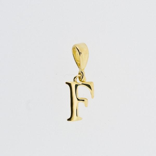 Bilde av Bokstav anheng i gull - liten