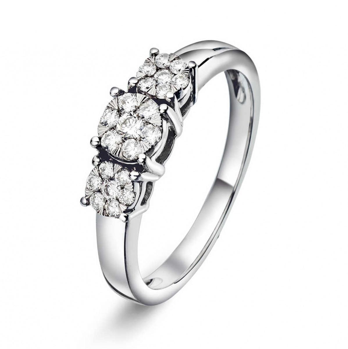Ring i hvitt gull med diamant 0,25 ct WP