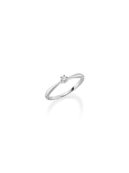 Bilde av GD hvittgull ring med diamant