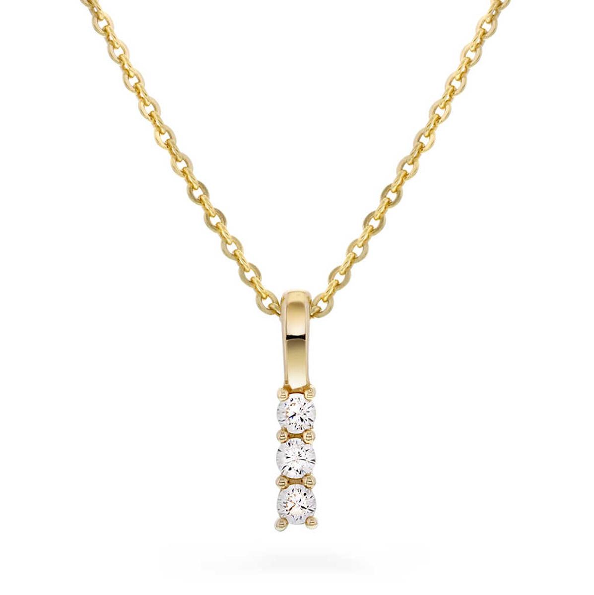 Smykke i gull med zirkonia