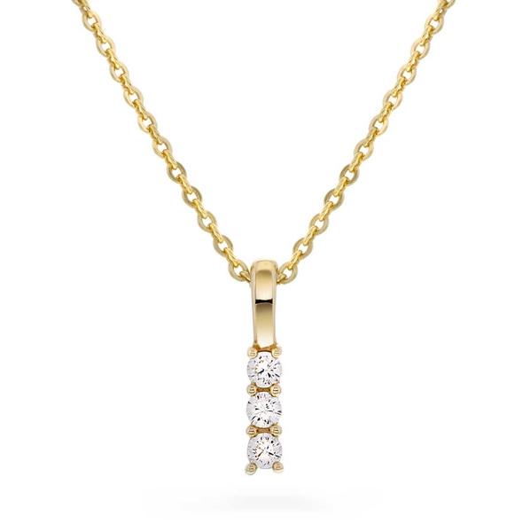 Bilde av Smykke i gull med zirkonia