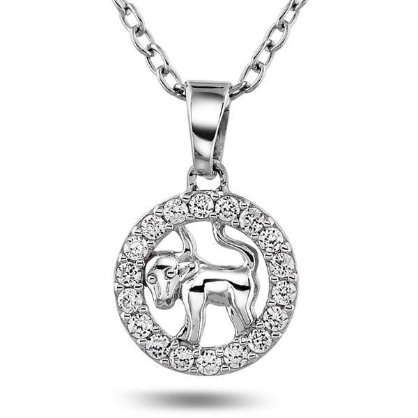 Bilde av Anheng i sølv med tyren,