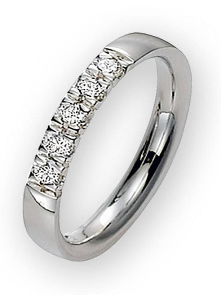Lady Alliansering. 5 stk 0,05 ct diamanter.