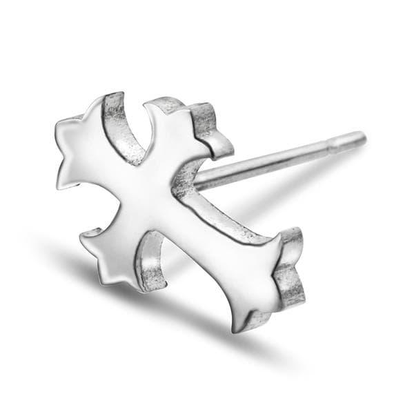 Bilde av  Ørepynt i stål kors