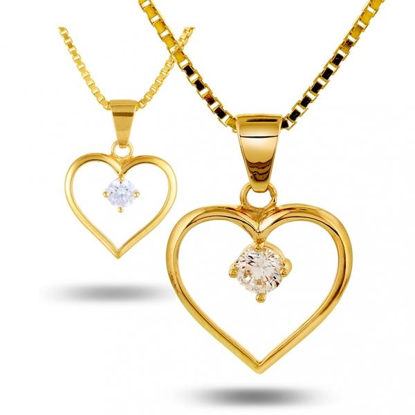 Bilde av Mor&Barn -hjerter i gull