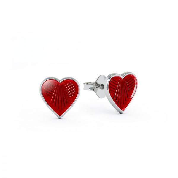 Bilde av Ørestikk i sølv - Røde
