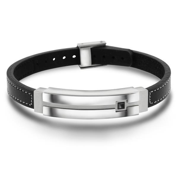 Bilde av  Armbånd i stål med sort