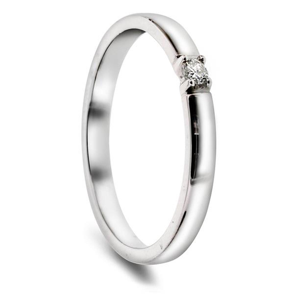 Angelica Alliansering. 1 stk 0,03ct diamant.