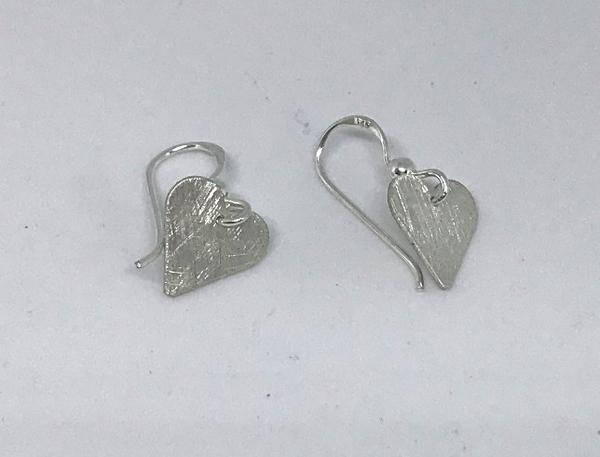 Bilde av Hjerte ørepynt heng - sølv