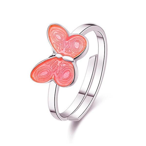 Bilde av Pia & Per Ring i sølv - Rosa