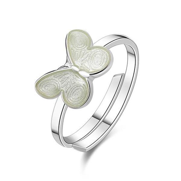 Bilde av Pia & Per Ring i sølv - Hvit
