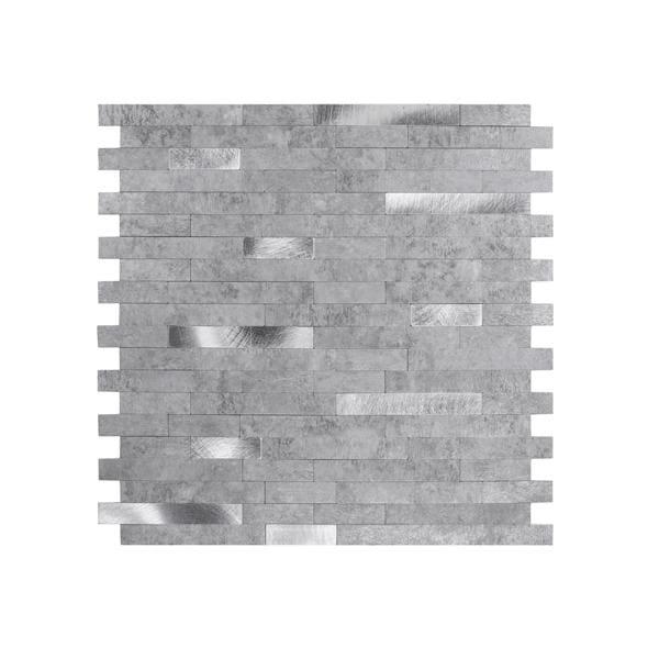 Bilde av Vareprøve: Stein lys grå selvklebende veggfliser