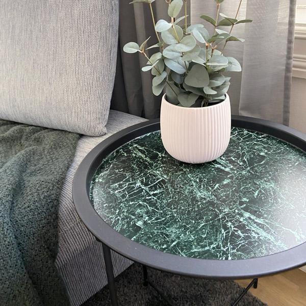 Bilde av Klassisk grønn marmor kontaktplast