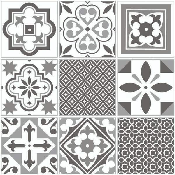 Bilde av Ida grå selvklebende gulvfliser