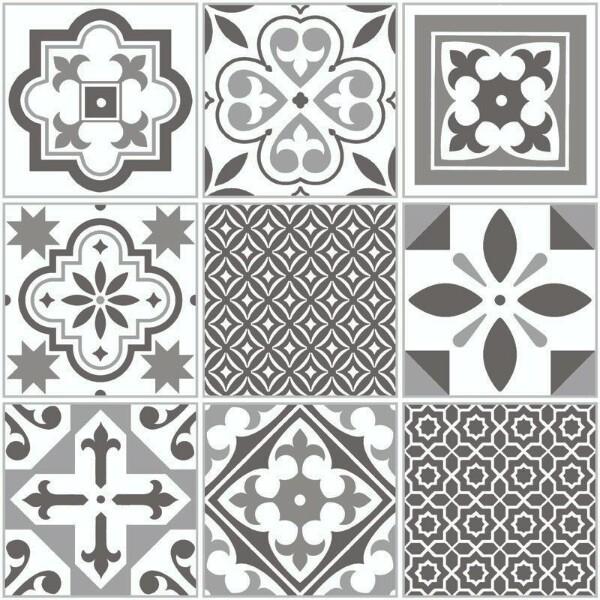 Bilde av Vareprøve: Ida grå selvklebende gulvfliser