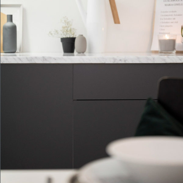 Bilde av Vareprøve: Uni matt antrasitt grå Kontaktplast