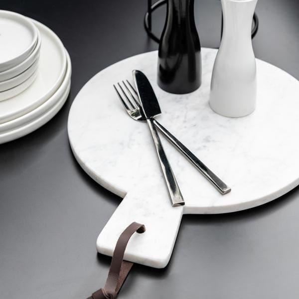 Bilde av Rundt marmor skjærebrett