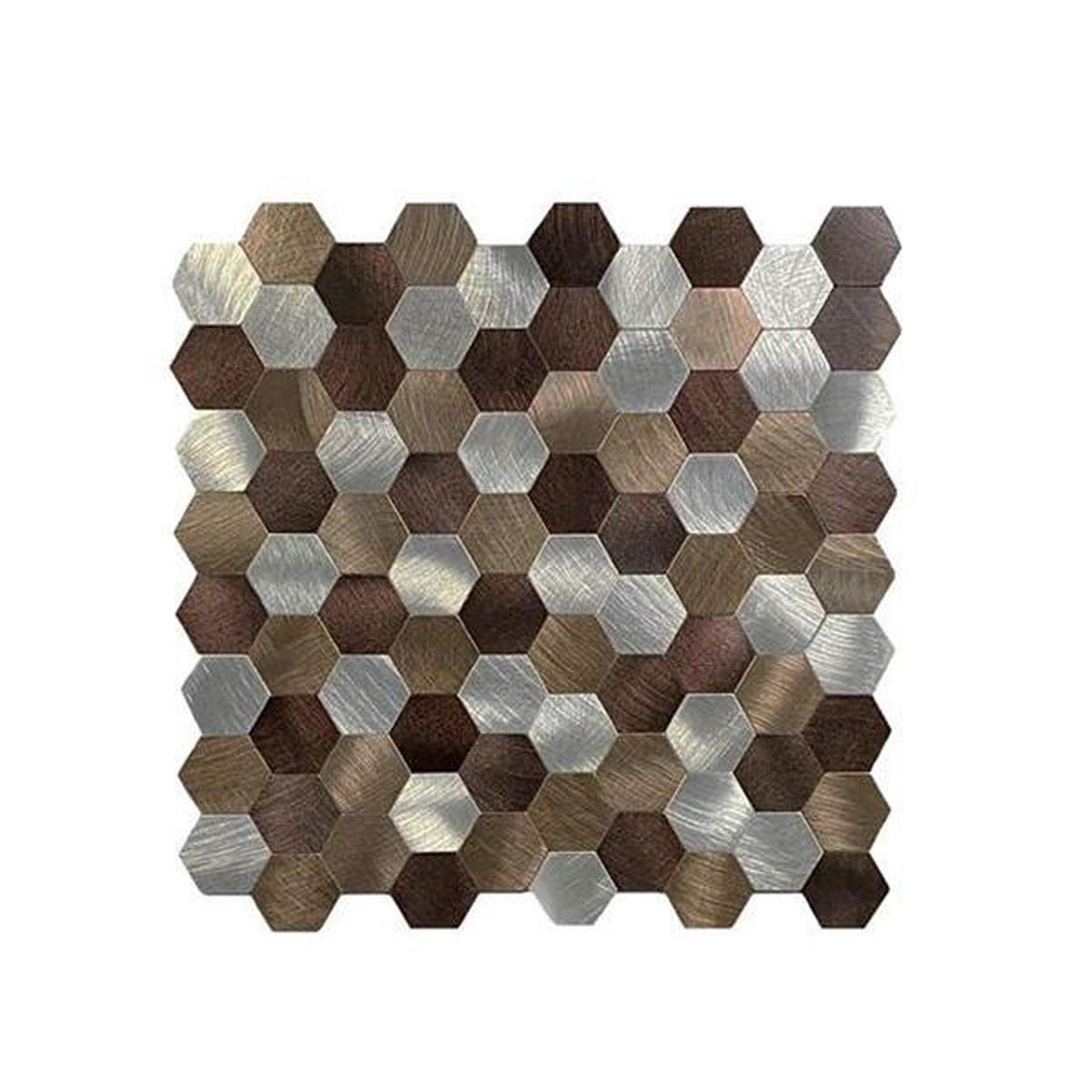 Bronse selvklebende veggfliser