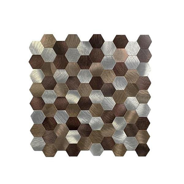 Bilde av Bronse selvklebende veggfliser