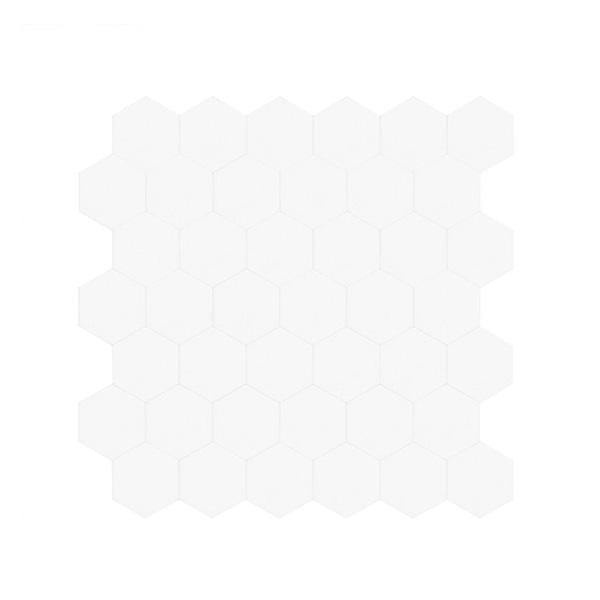 Bilde av Hexagon hvit matt selvklebende veggfliser