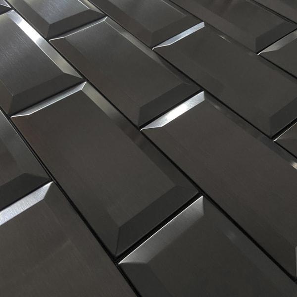 Bilde av Vareprøve: Metro mørk grå veggfliser